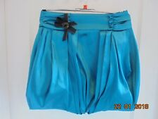 BNWOT RIVER ISLAND TEAL PUFFBALL BUBBLE MINI SKIRT SIZE 10