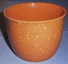 Blumenübertopf Keramik orange - gelb Deko Blumentopf unbenutzt
