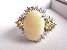 7.34ctw Diamond, Beryl & Opal Ring 14k Gold Sz 7.25 & 11.2grams Appraisal Inc