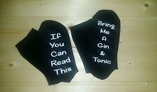 If you can read this/Bring me a Gin & Tonic socks gift birthday