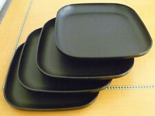 Tupperware Free Shipping New 4 Dishes Square Classic Plates Raised Edges *Detail