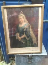 """REDUCED"" - ANTIQUE PRINT, QUEEN VICTORIA - ""REDUCED""  (4456)"