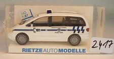 Rietze 1/87 50522 Ford Galaxy Bus Van Polizei Politie Genk Belgien OVP #2417