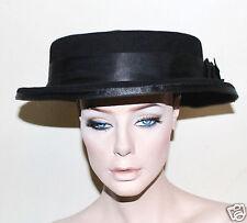 Orizu over sized high fashion hat black felt