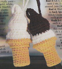 Crochet Pattern ~ DAIRY ICE CREAM CONES Toy Food ~ Instructions