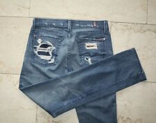7 SEVEN FOR ALL MANKIND, Distressed Jeans, Modell: Straight Leg, Size 27, W. NEU