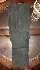 Ralph Lauren Purple Label 100% Leather Gent's Flat Front Pants Sz 32 Made Italy