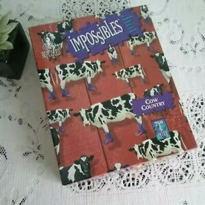 Bepuzzled Impossibles Cow Country Jigsaw Puzzle 750+5 Piece Complete
