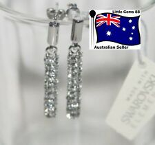 MESTIGE CRYSTAL PILLAR EARRINGS SWAROVSKI ELEMENT CRYSTALS DANGLE STUDS