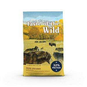 Taste of the Wild Prairie Canine Grain-Free Roasted Bison Venison Dog Food, 28lb