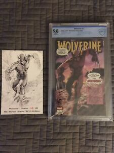 Wolverine #1 CBCS 9.8 Marvel 2020. Mike Mayhew Cover Ltd 180 copies with COA