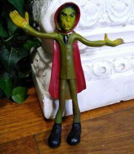 Vintage 1970s Bendy Bendable Dracula Vampire Figure Rubber Toy Halloween