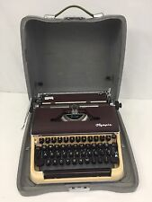 Vintage 50's Olympia DeLuxe SM3 Portable Typewriter & Case Germany Near Mint