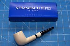 B&W STEM rare Handmade premium MEERSCHAUM pipe by STRAMBACH of Austria (bauer) ☦