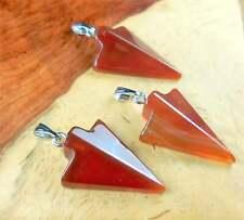 Arrowhead Necklace - Red Carnelian Agate Pendant (Y14)