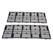 10 Pcs Aquarium   Tank Undergravel Filter Board Plate Black Plastic