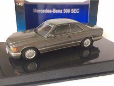 AUTOart Mercedes-Benz 500 SEC W126 in Anthrazit-Graumetallic 1/43 OVP - selten
