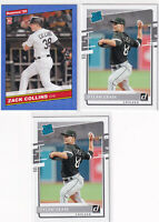 LOT (3) ZACK COLLINS DYLAN CEASE WHITE SOX  2020 DONRUSS RATED ROOKIE RC - Y3140