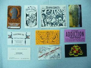 9 Tattoo Shop Business Cards & 1 Sticker