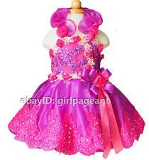 Infant/toddler/baby Sequins Lace Halter Floral Pageant Gliz Dress 2T G099-5