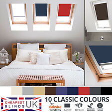 BLACKOUT THERMAL ROLLER ROOF SKYLIGHT BLINDS FOR ALL DAKSTRA WINDOWS - 8 COLOURS