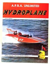 1966-1967 A.P.B.A. HYDROPLANE YEARBOOK boat racing BOOK  w