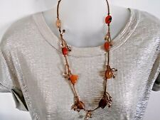 Agate Beads on Cord  Necklace