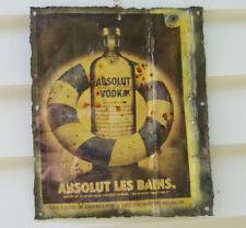 "Sign/plaque, tin, the iconic ""Absolut Vodka"", bar/garage/man cave etc., decor"