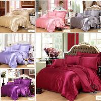 Comfort Mulberry Pure Colors Sheet Quilt 4 Piece Bed Sheet Set 220*240cm