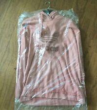 NWT! Adidas Originals Trefoil Hoodie RAW PINK Women's Long Sleeve Pullover