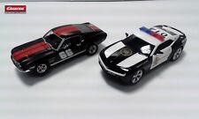 "Carrera Evolution FORD MUSTANG GT ""NO.66"" + Chevrolet Camaro Sheriff 27553+27523"
