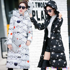 Women Winter Coat Down cotton jacket hooded Long ladies print coat parka outwear