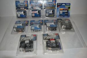 ^^ BROTHER TZ TAPE LOT TZ-261, TZE-231, TZ-242 AND OTHERS - LOT OF 10 NEW (BQ85)