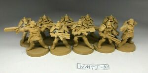 Warzone Mutant Chronicles Imperial Squad (10 Plastic Miniatures) OOP Rare