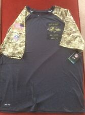 Baltimore Ravens Salute to Service Camo and Gray Shirt SIZE Small Nike Men's