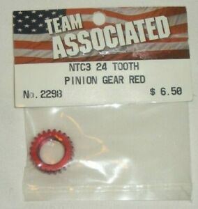 Associated 2298 Pinion Gear 24T Red NTC3 New