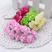 12Pcs Artificial Flower Mini Cute Paper Plum Flower Handmade DIY Wedding Decor #