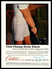 1961 Carter's Knit Boxer Shorts Man In Underwear Practicing His Putting Print Ad