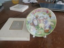 "avon collectible 1994 easter 5"" plate ""all dressed up"""