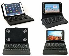 """Universal Leather Stand Case For 7"""" ~ 8"""" Tablet Wireless Bluetooth Keyboard US"""