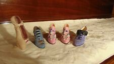 """lot of 5 miniature shoes w/ toe dancer by """"just the Right Shoe"""" by Raine"""