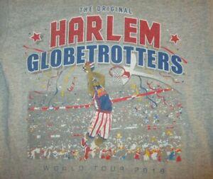 HARLEM GLOBETROTTERS T SHIRT World Tour 2018 Basketball Adult SMALL