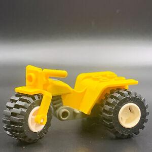 LEGO Minifig Tricycle Vehicle MOTORCYCLE YELLOW