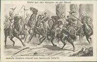 Ansichtskarte Deutsche Kavallerie französische Batterie Kämpfe Marne  (Nr.9623)