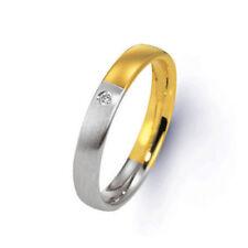 White Not Enhanced Multi-Tone Gold Fine Rings