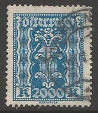 AUSTRIA SG496 1923 2000k BLUE USED