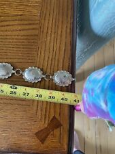 Silver Tone Floral Engraved Concho Belt 40''