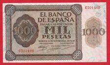 Scarce,1000 Pesetas, 1936 ''Burgos'' Nice,  SPAIN