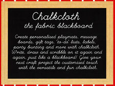 Chalkboard Fabric 1/2 Metre Chalk Cloth Blackboard Chalkcloth Black Board New