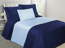 Velvet Embossed Bedspread Soft Quilt 4-Piece Multi-Tone Bed Set CLOSEOUT SALE!!